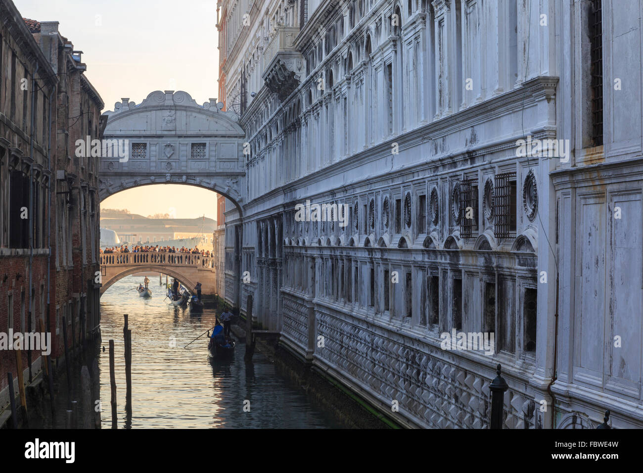 The Bridge of Sighs in Venice, Italy - Stock Image