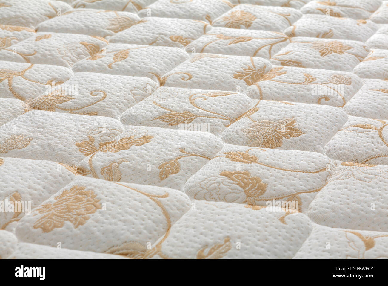 Brand new clean mattress cover surface - Stock Image