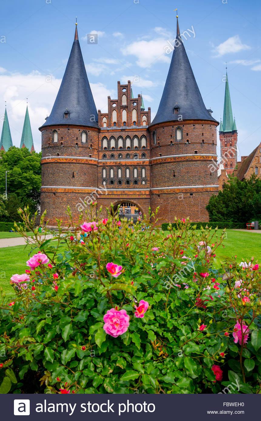 Holstentor. Lubeck, Germany - Stock Image