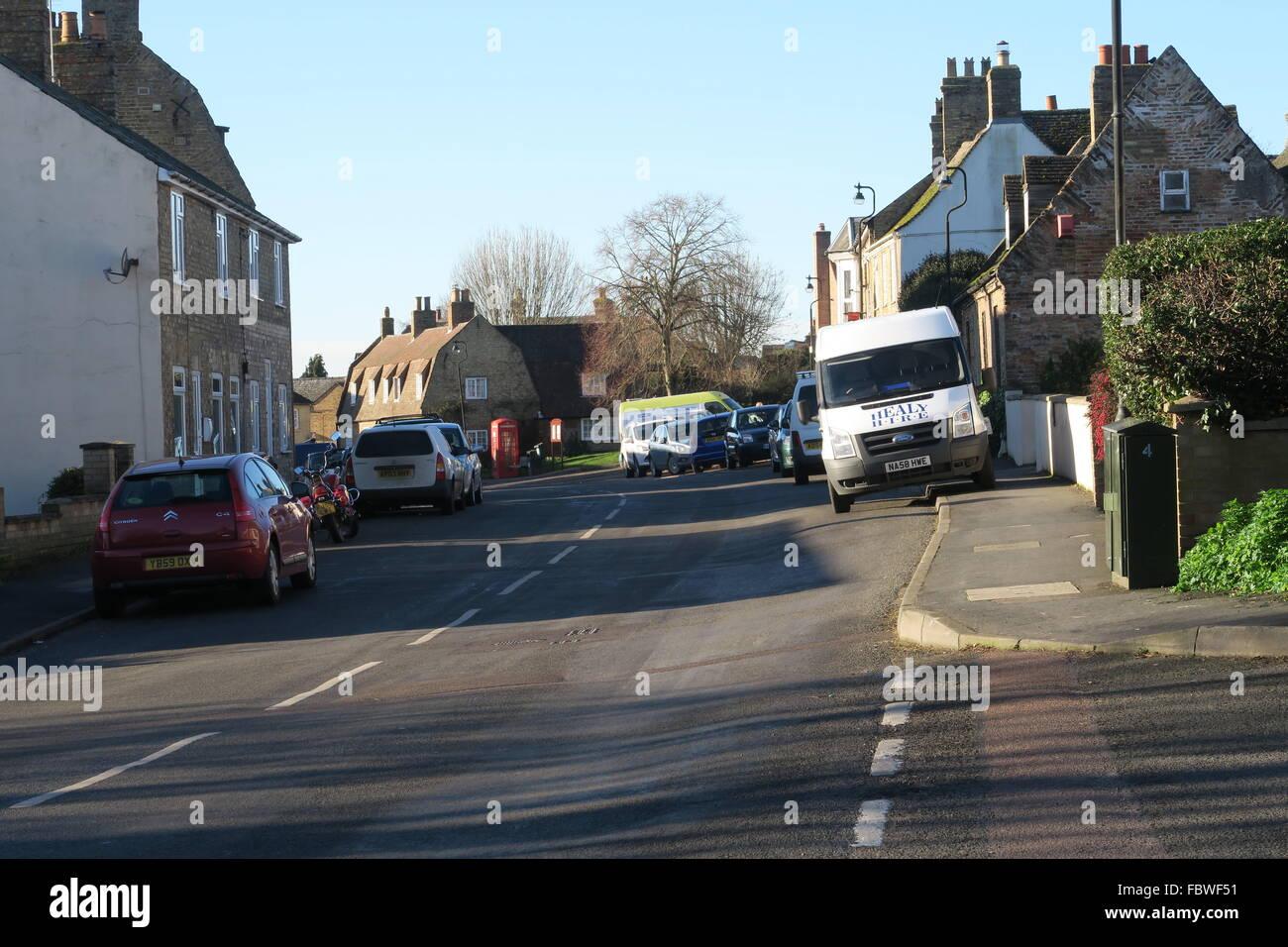 High Street, Sutton-in-the-Isle, Cambridgeshire, England Stock Photo