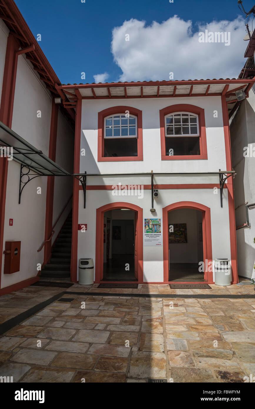Galeria SESI Mariana, Centro de Cultura, Mariana, Minas Gerais, Brazil - Stock Image