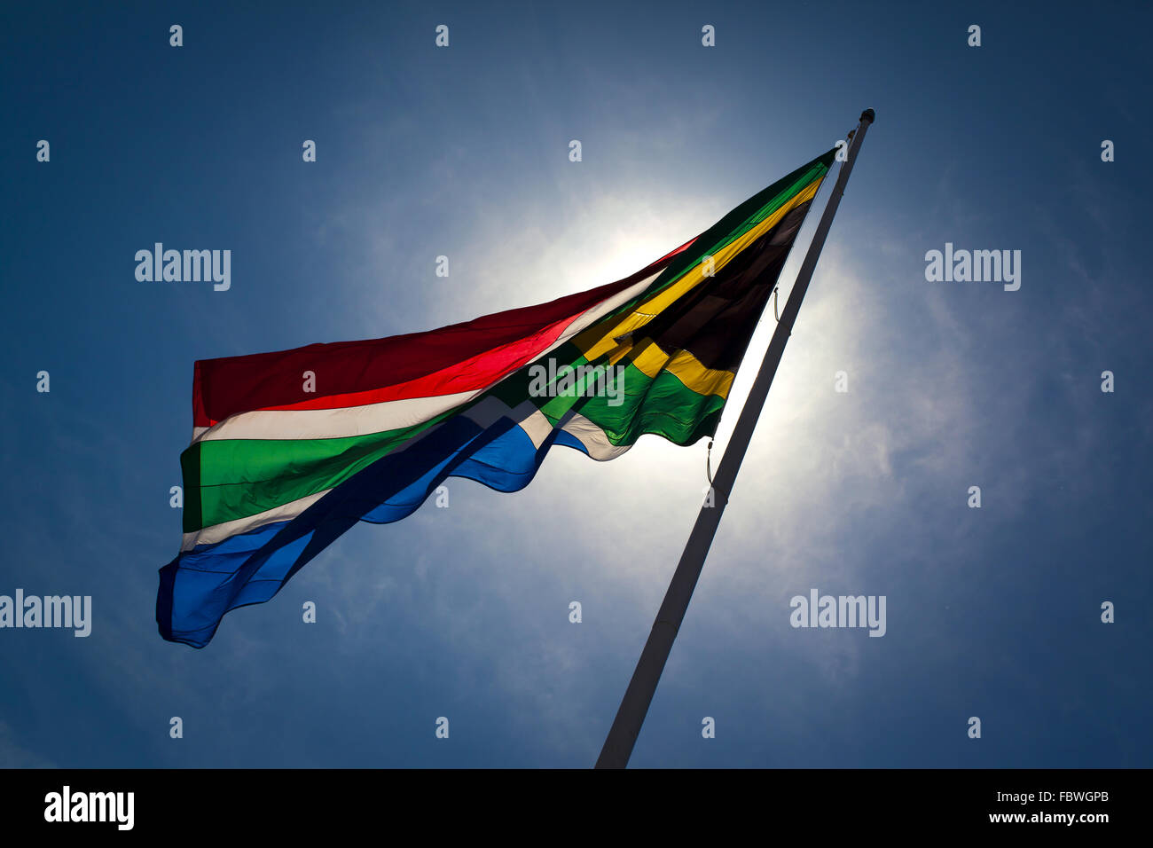 The South-African flag. - Stock Image