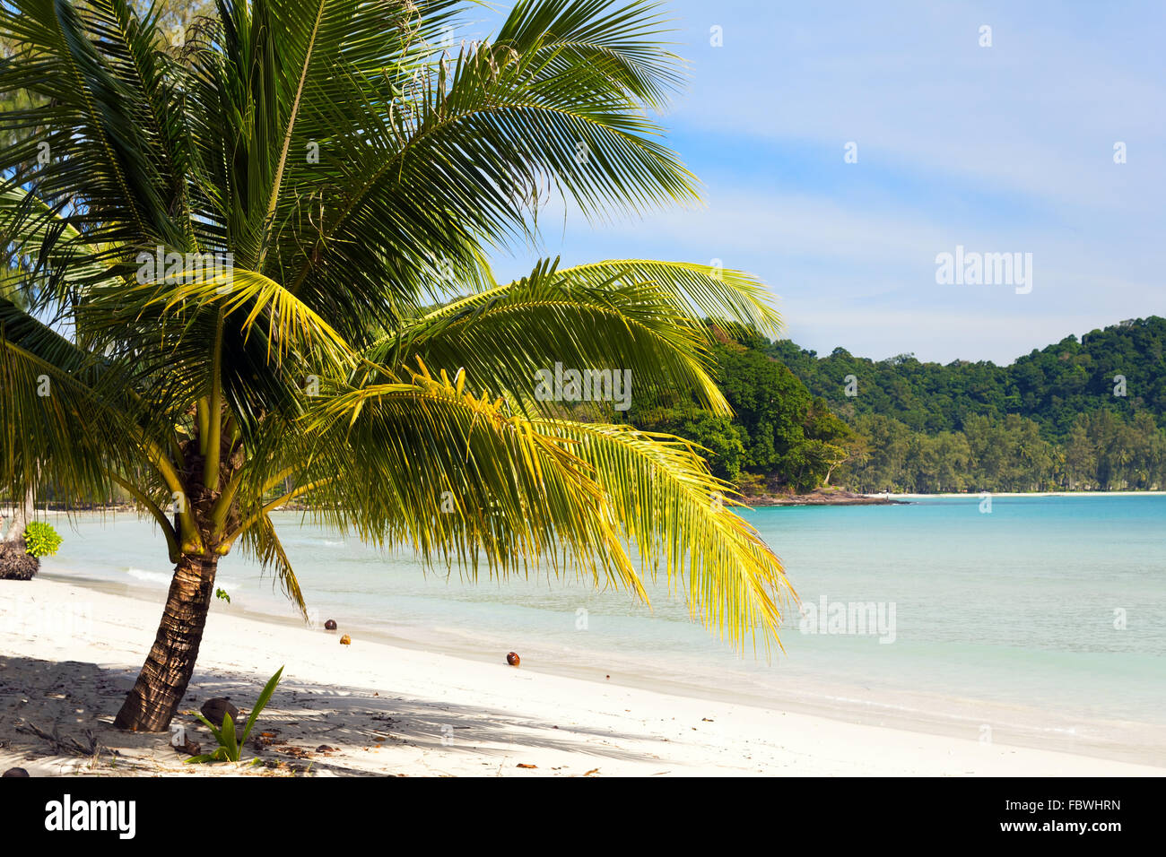 Beach on the Koh Kood island, Thailand - Stock Image