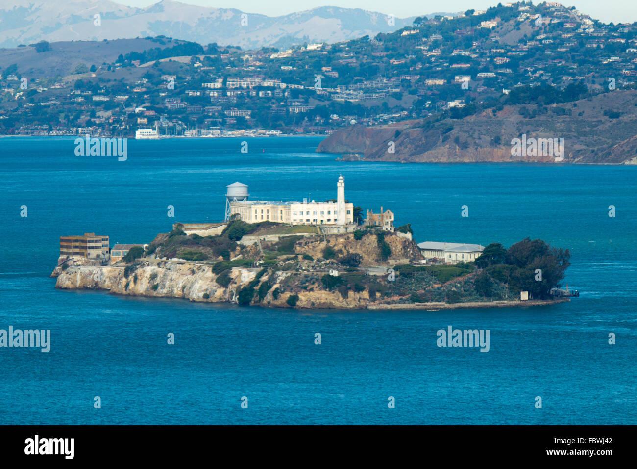Alcatraz Island in San Francisco, USA Stock Photo