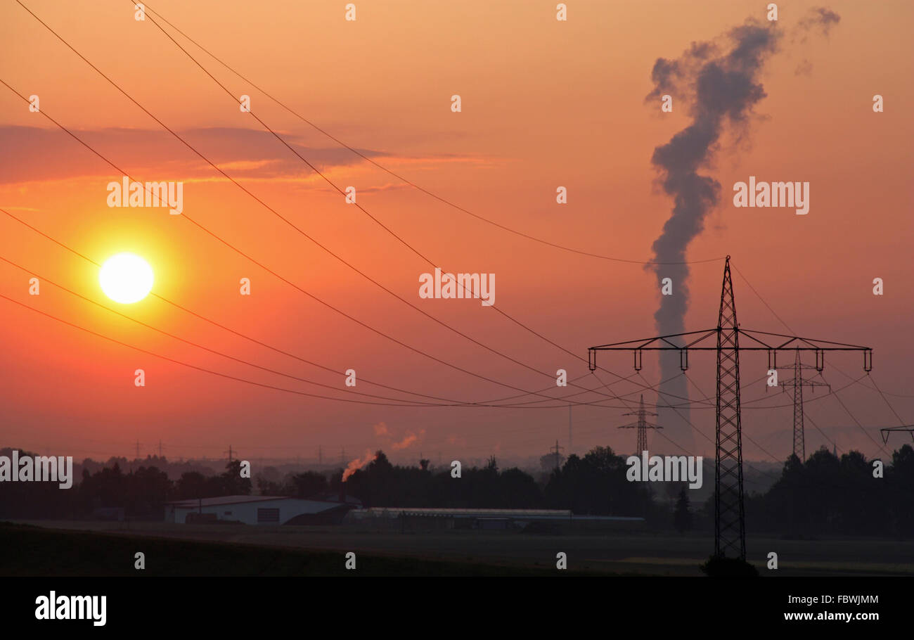 Sun and power - Stock Image