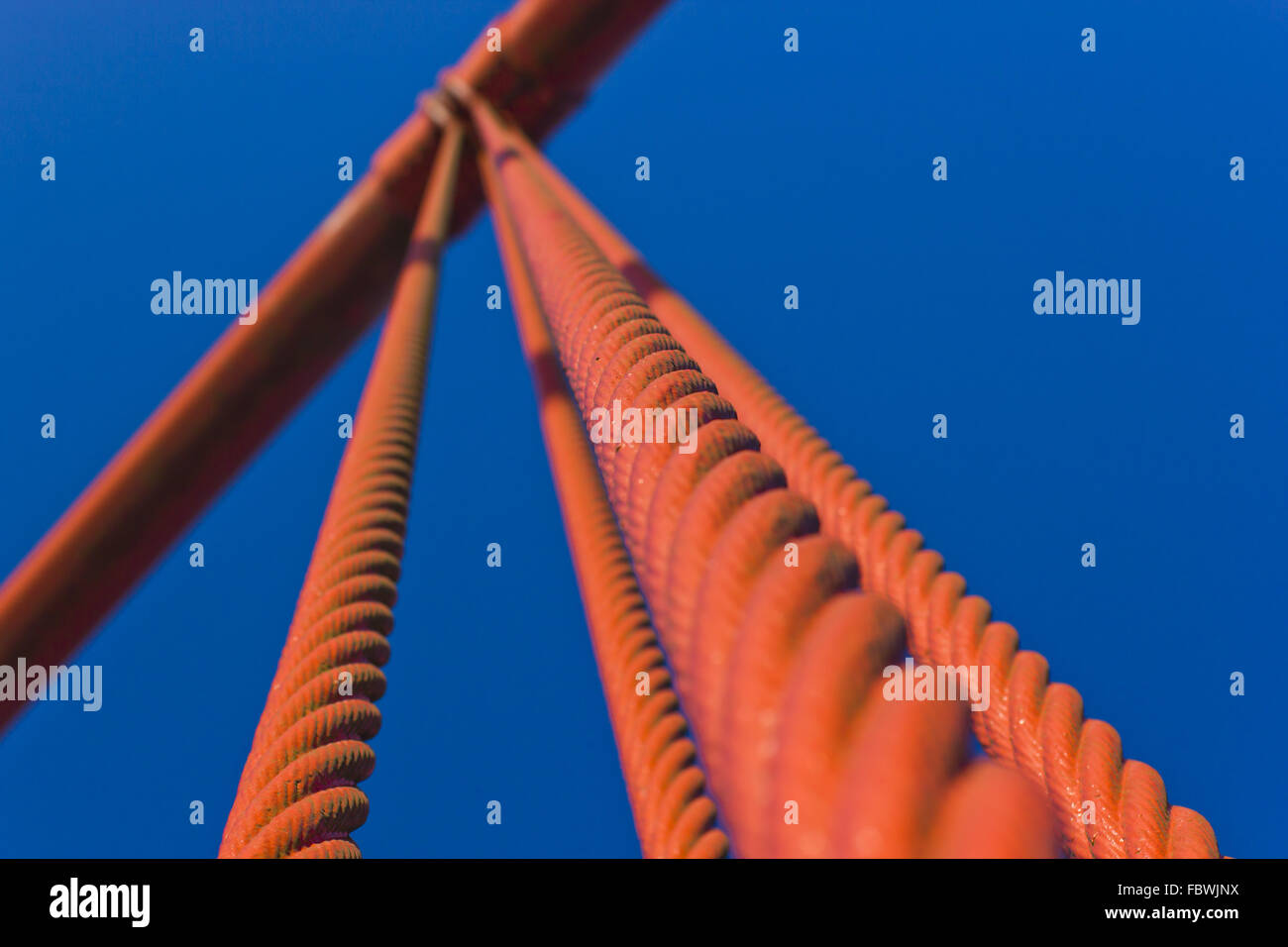 Close-up of the Golden Gate Bridge Stock Photo