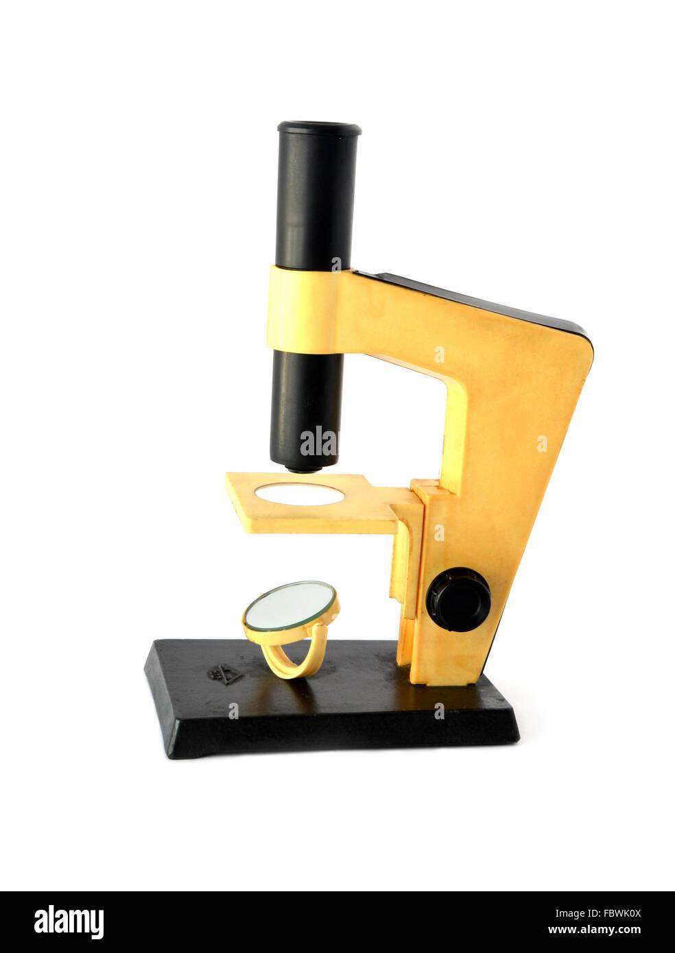 old microscope - Stock Image