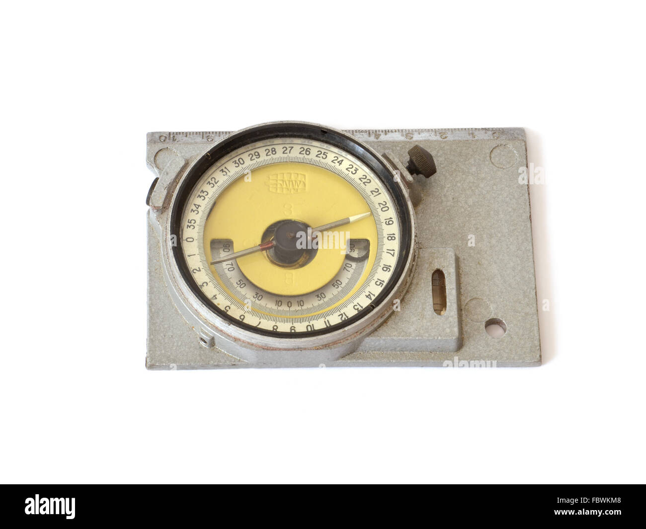 Antique compass on white background - Stock Image