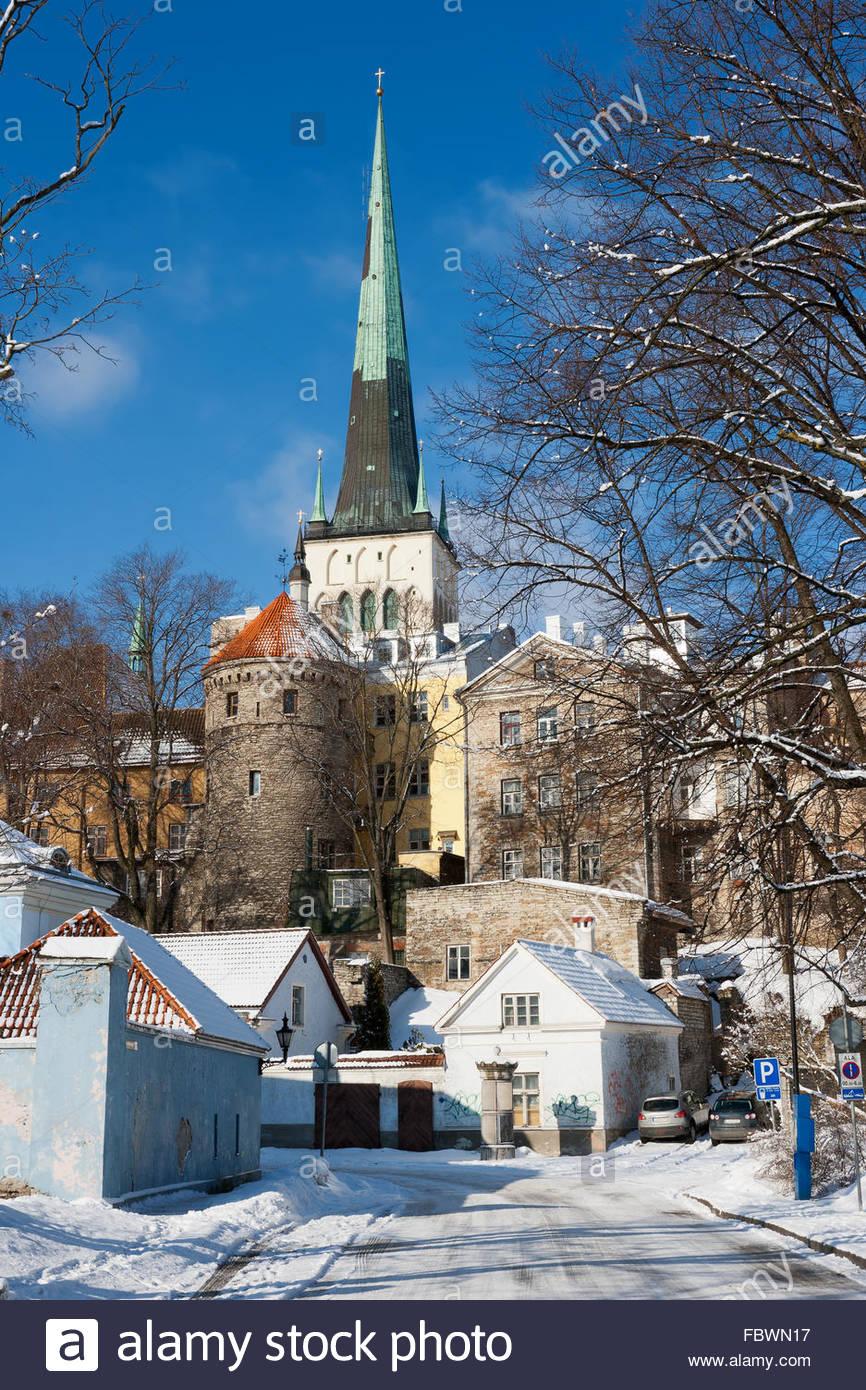 Old town. Tallinn, Estonia - Stock Image