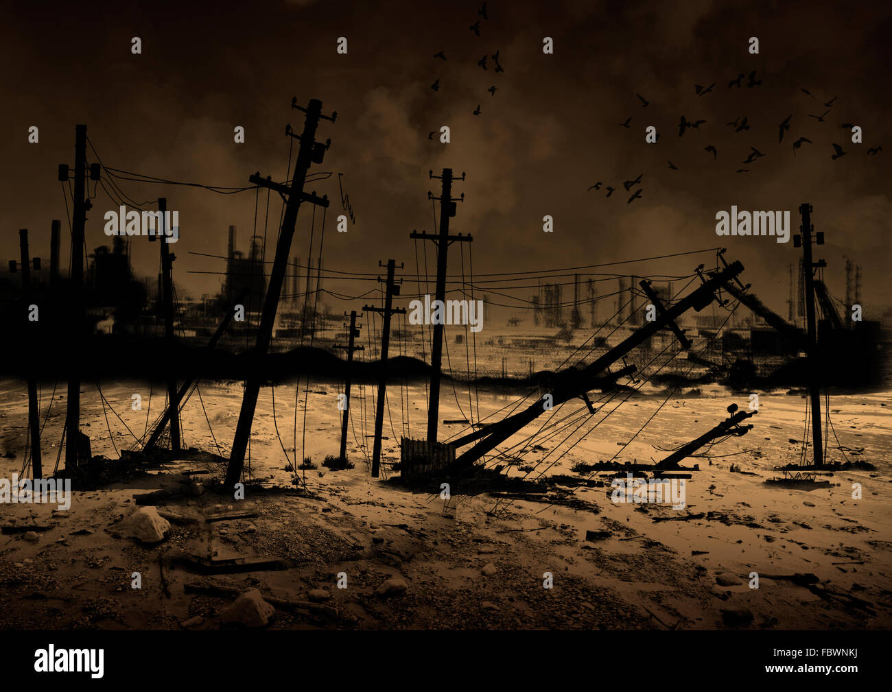 Background Post Apocalypse - Stock Image