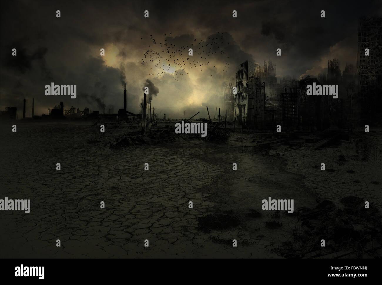 Background - apocalyptic scenario Stock Photo