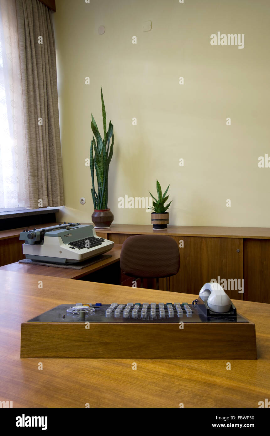 office of erich mielke in the stasi museum - Stock Image