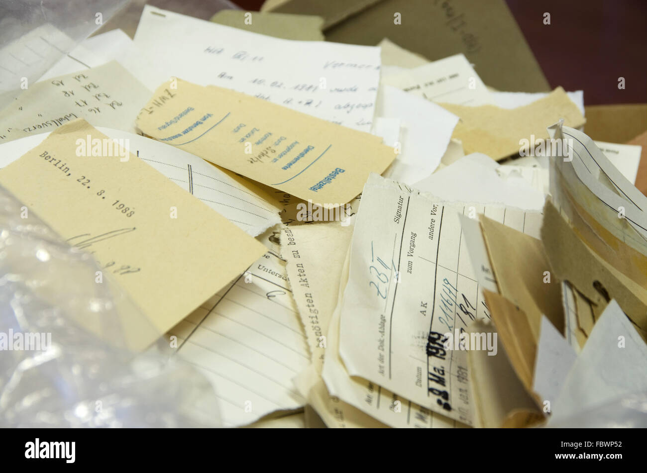 secret files stasi berlin - Stock Image