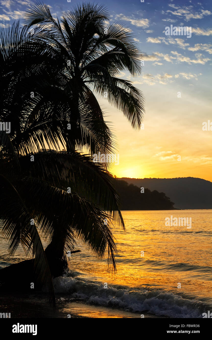 Sunrise on the Koh Kood island, Thailand - Stock Image
