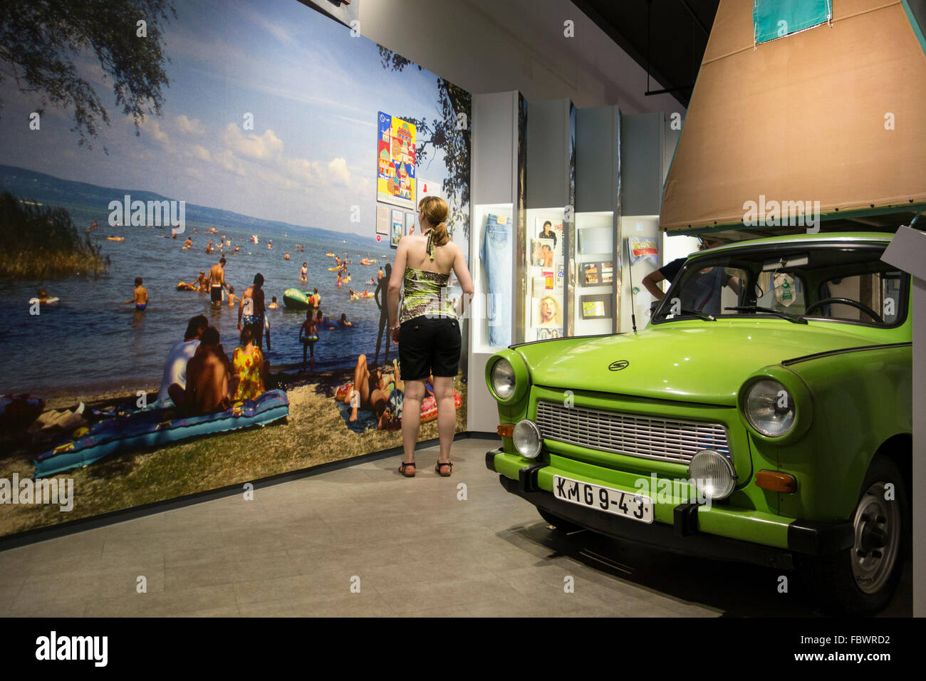 Berlin. Germany. Permanent exhibition 'Everyday Life in the GDR' at Museum in der Kulturbrauerei, Prenzlauer - Stock Image