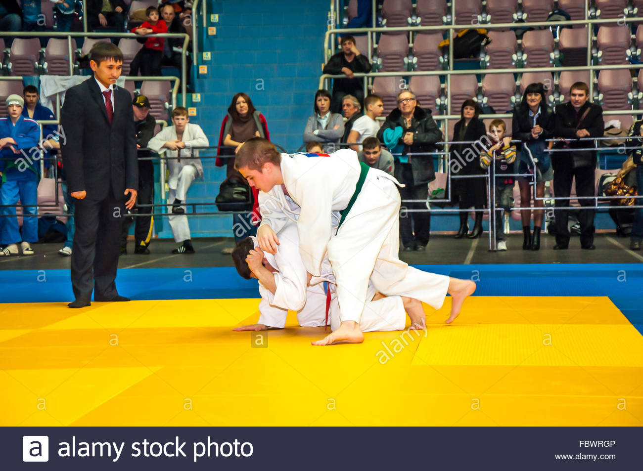 Judo competitions among adolescents - Stock Image