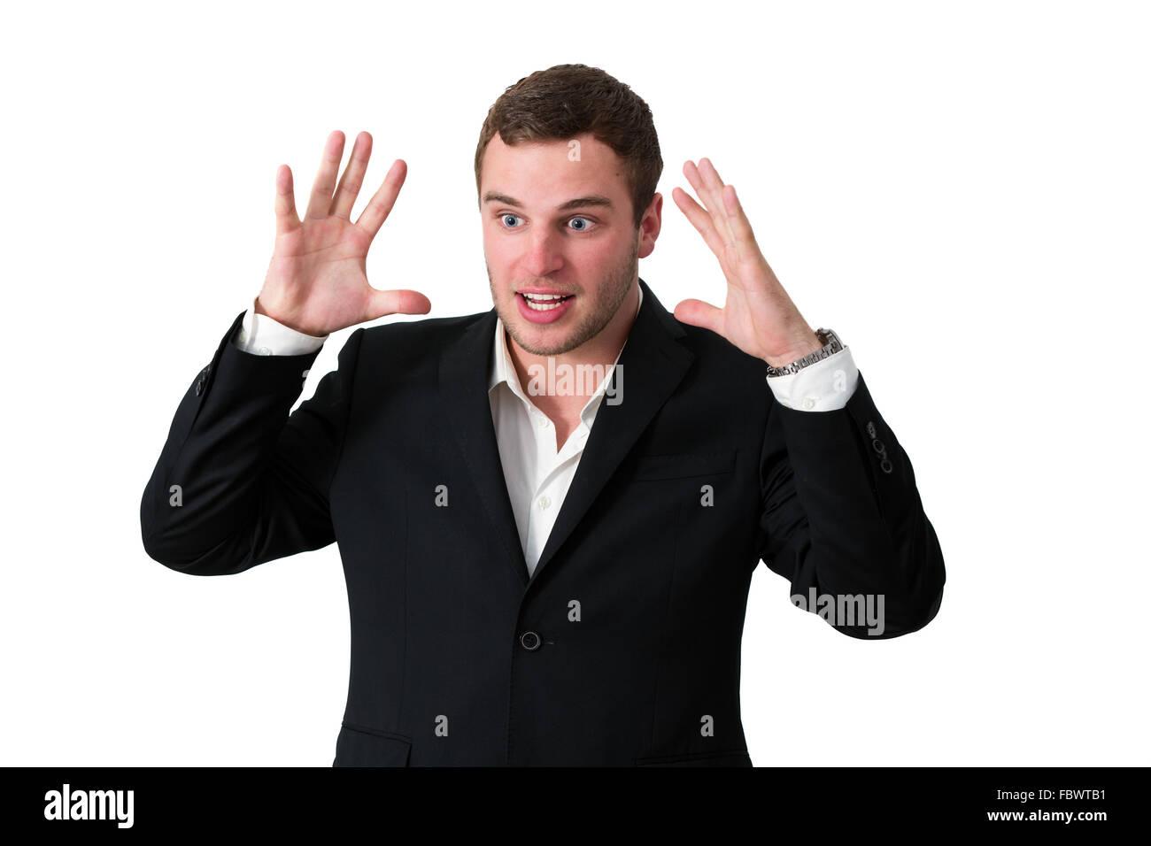 Furious Businessman - Stock Image