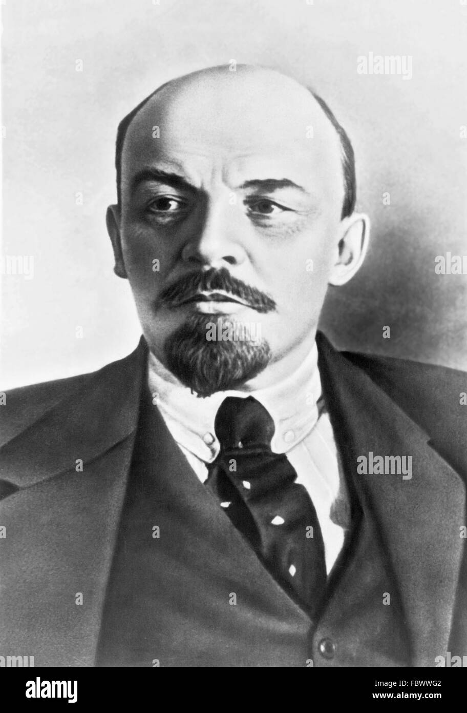 Vladimir Lenin (Vladimir Ilyich Ulyanov), Chairman of the Council of People's Commissars of the Russian SFSR - Stock Image