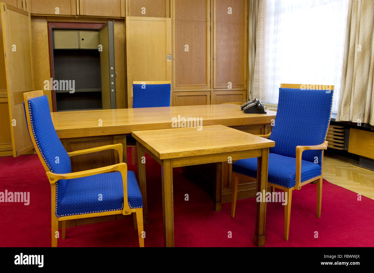 office of erich mielke stasi germany - Stock Image