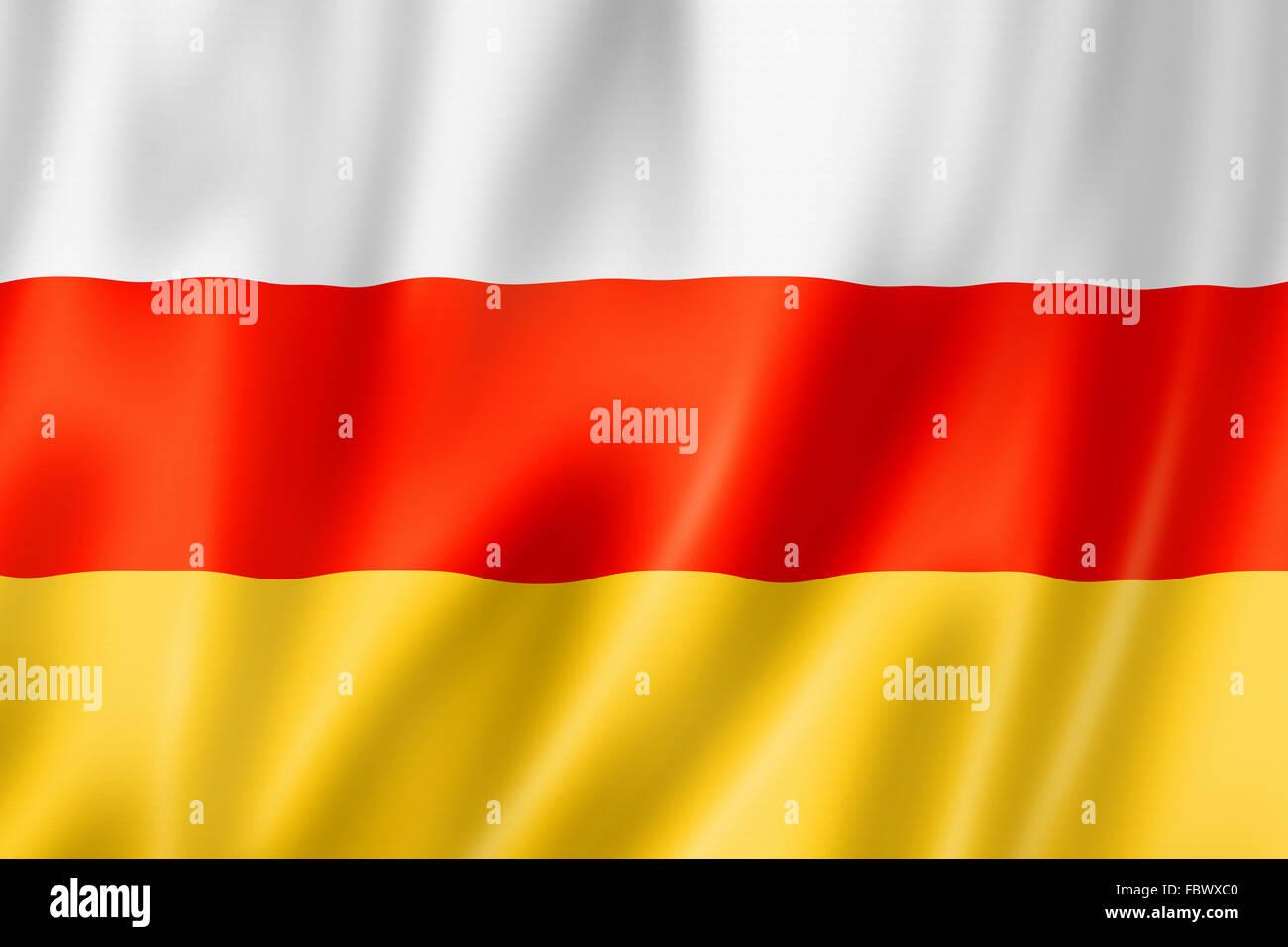 South Ossetia flag - Stock Image