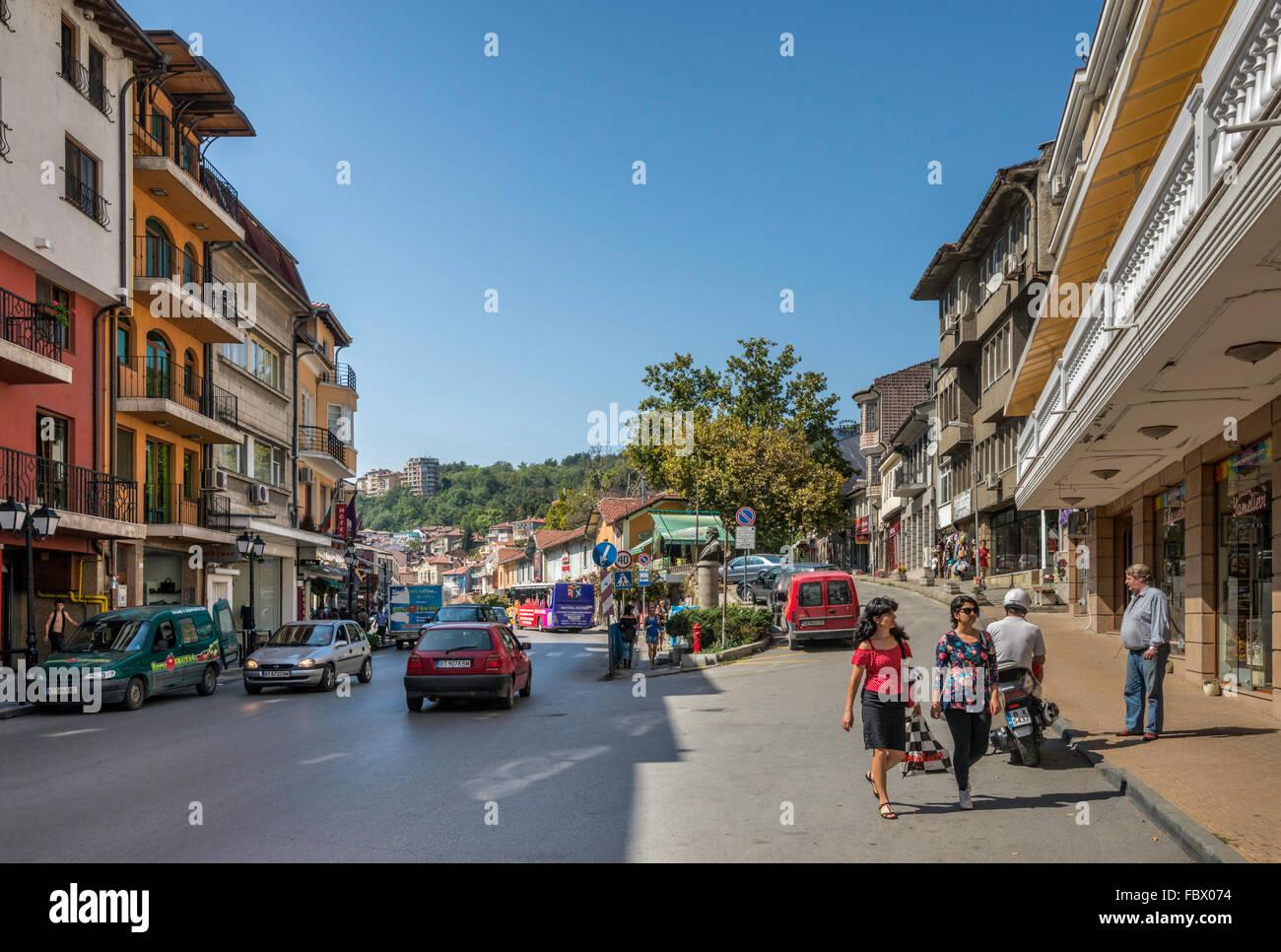 Stefan Stambolov Street in Veliko Tarnovo, Bulgaria Stock Photo