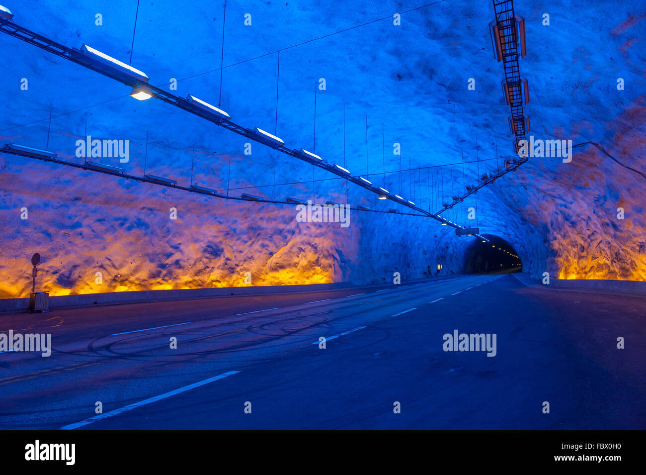 Laerdal tunnel, Norway, the longest road tunnel in the world - Stock Image