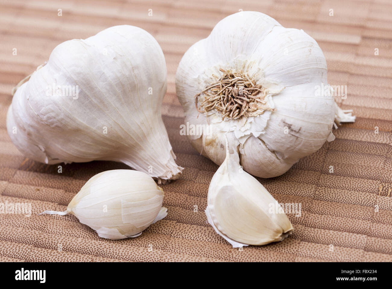 Fresh garlic - Stock Image