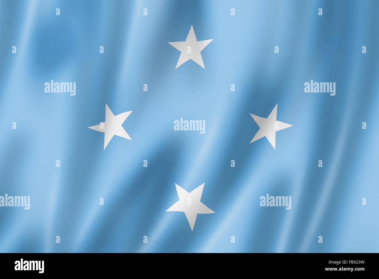 Micronesian flag - Stock Image