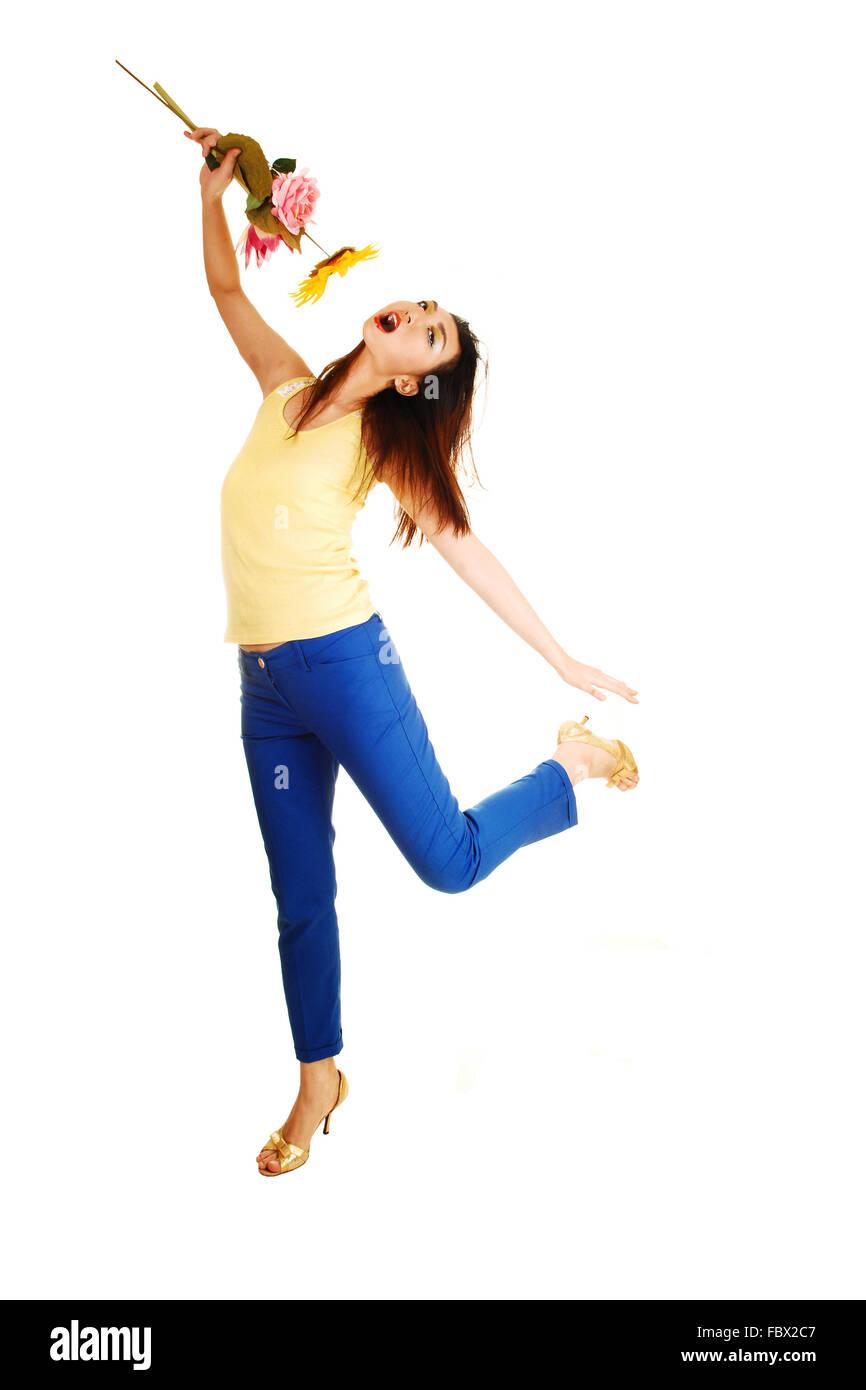 Chinese girl dancing Stock Photo: 93385719 - Alamy