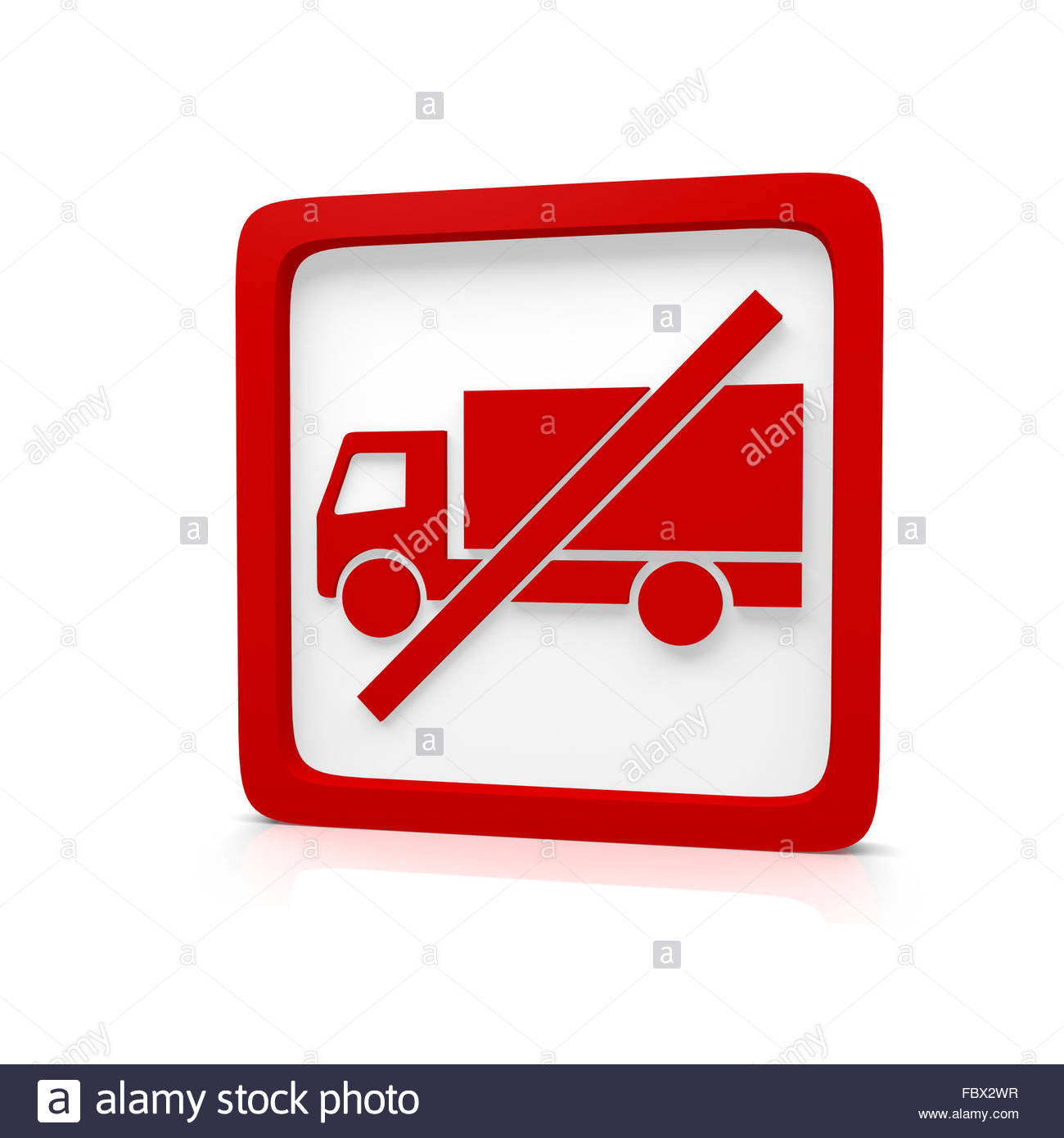 no truck - Stock Image