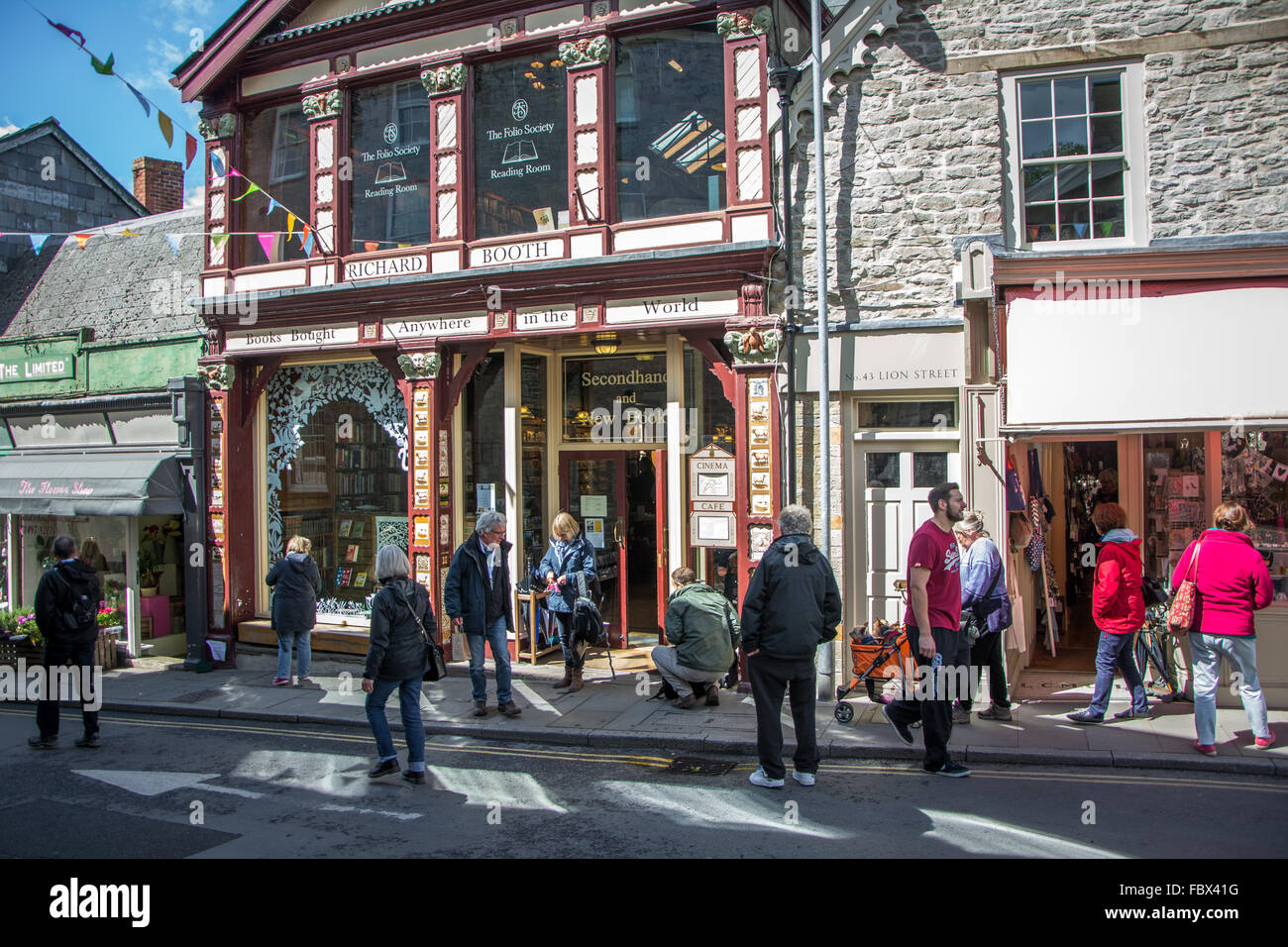 Famous Richard Booth bookshop in Hay-on-Wye, Wales - Stock Image