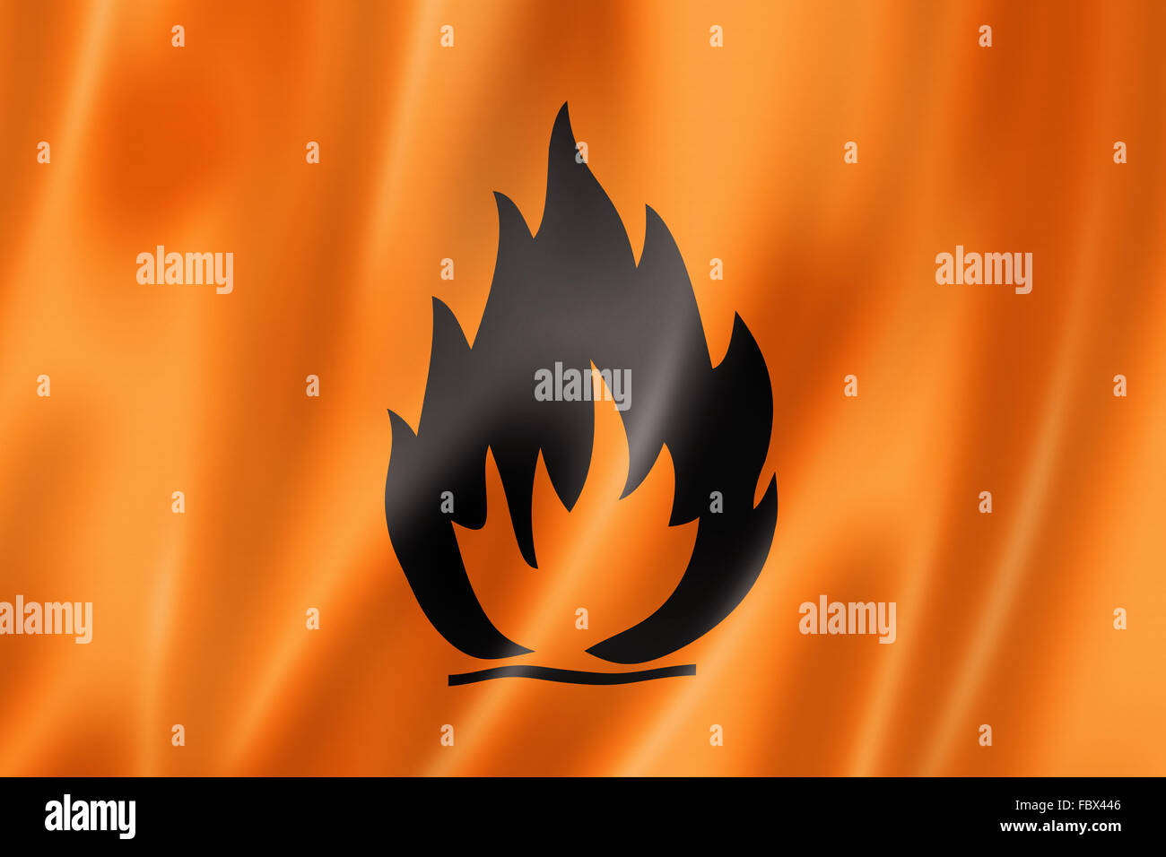 Flammable icon flag - Stock Image