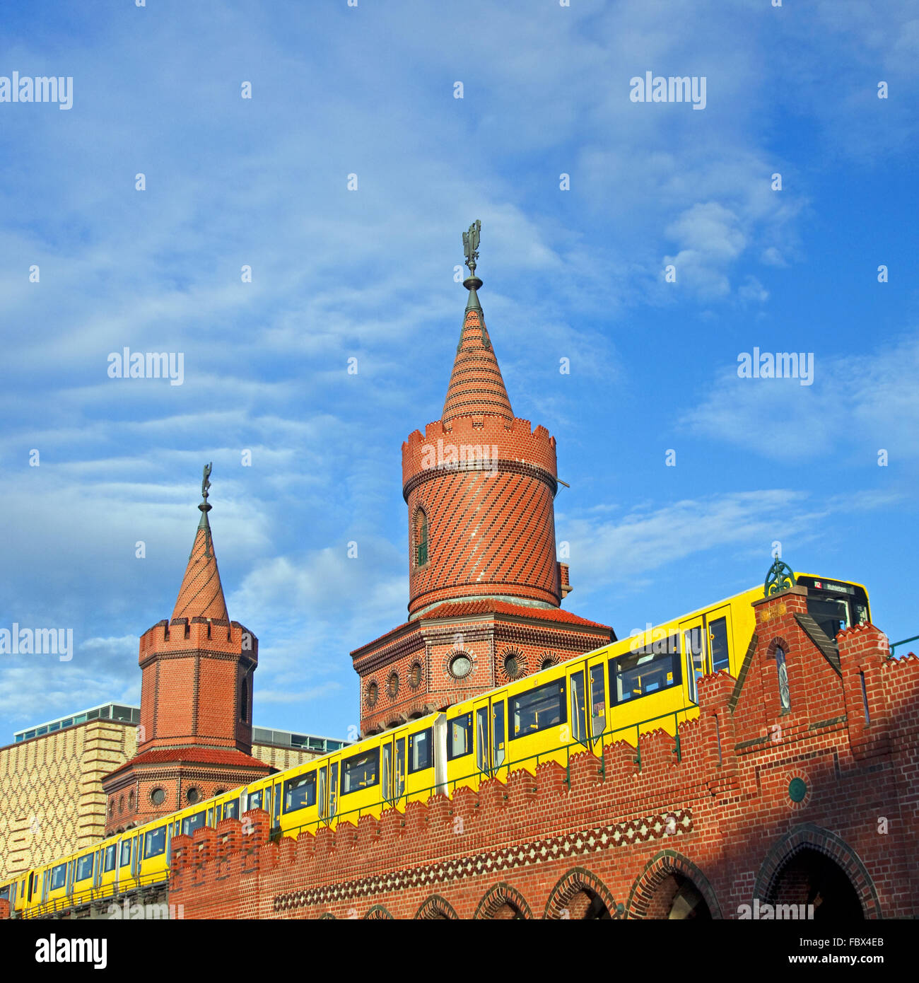 berlin oberbaumbruecke summer Stock Photo