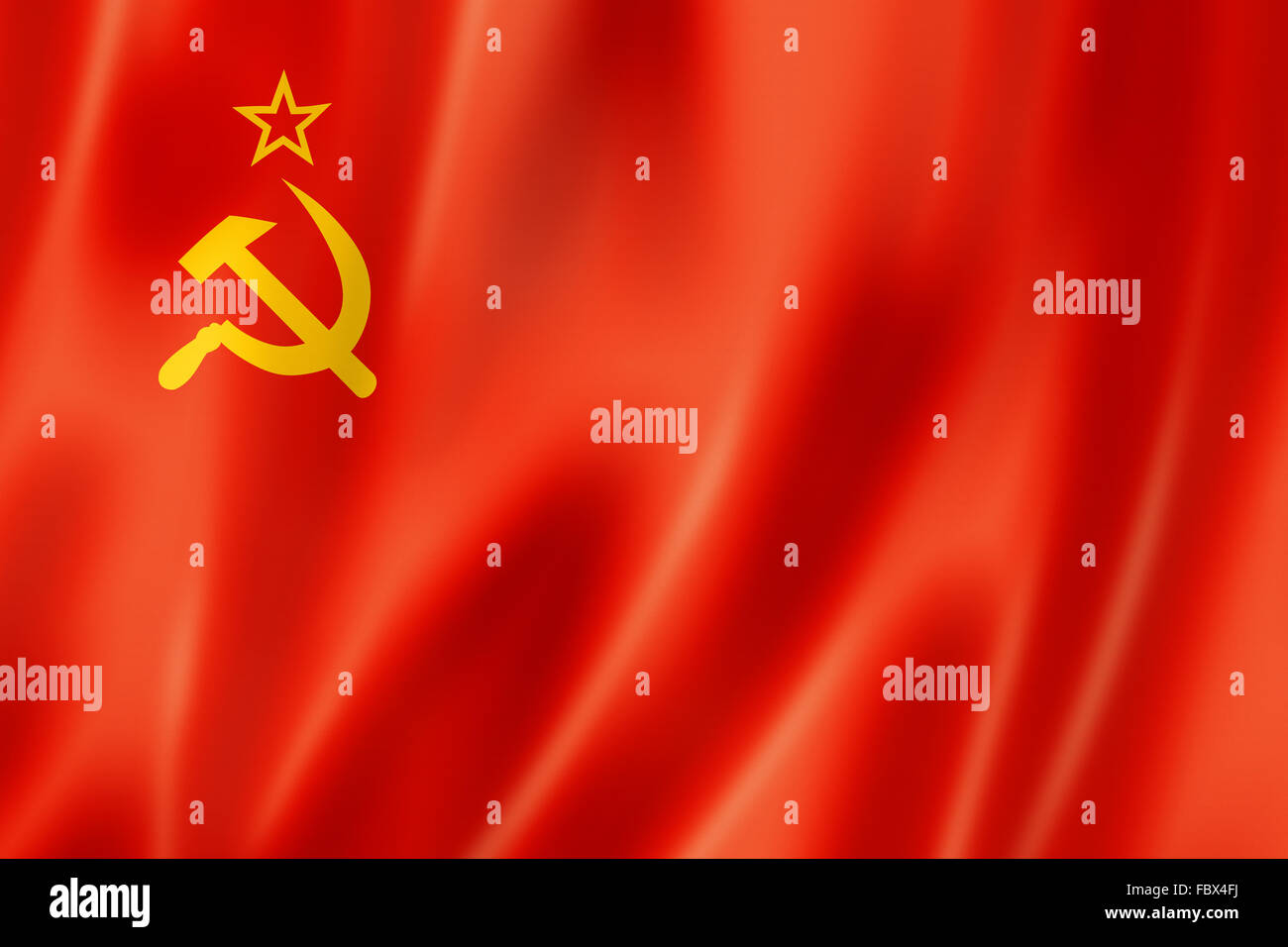 USSR flag - Stock Image