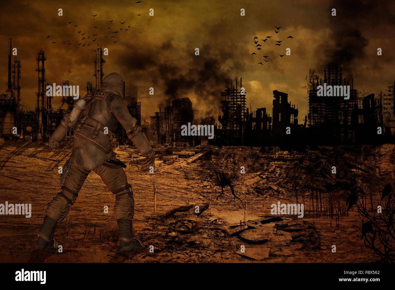 Post Apocalypse - Stock Image