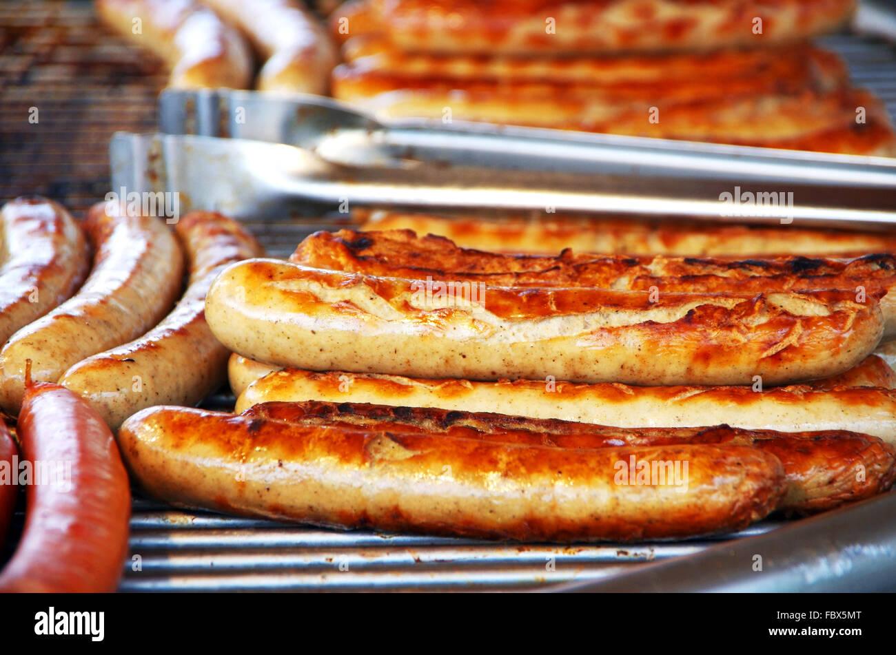 bratwurst barbecue Stock Photo