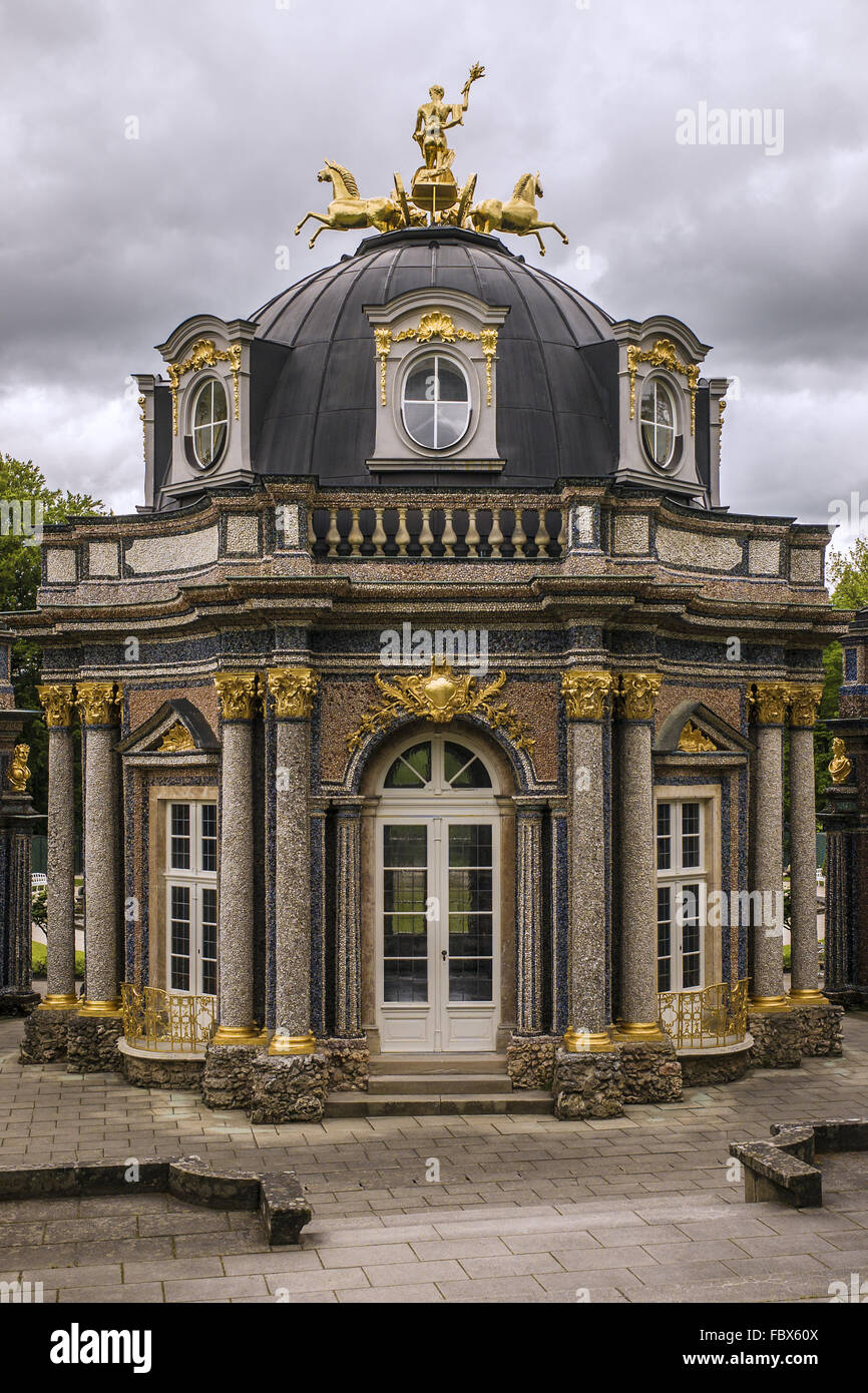 Hermitage in Bayreuth - sun temple - Stock Image