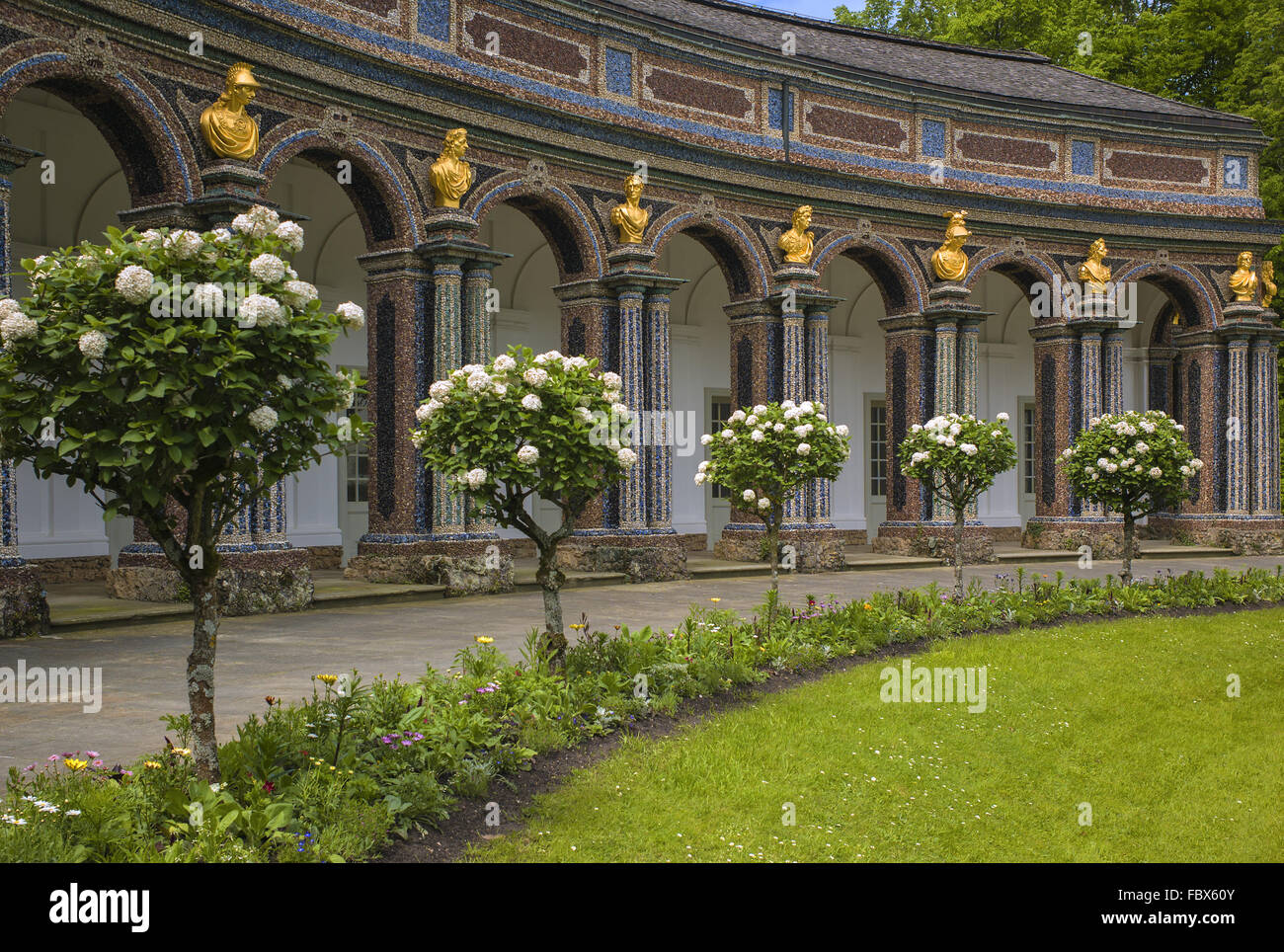 Hermitage in Bayreuth - orangery - Stock Image