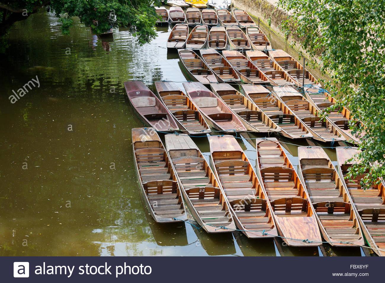 Punts. Oxford, UK - Stock Image
