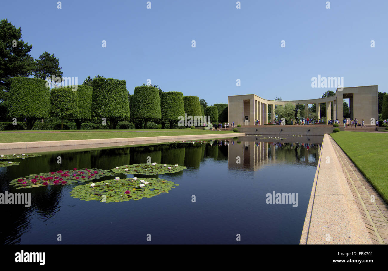 American War Cemetery in Colleville-sur-Mer Stock Photo