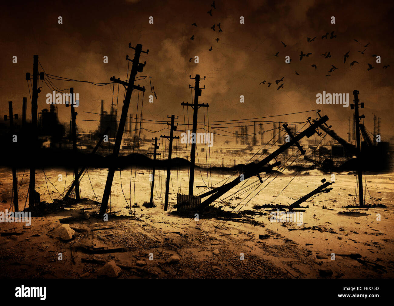 Background Post Apocalypse V2 - Stock Image