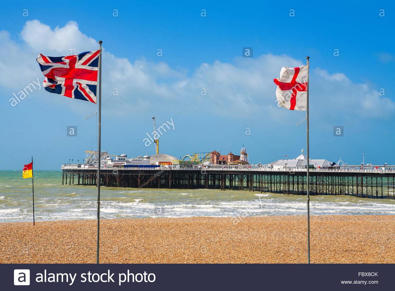 Brighton Pier. UK - Stock Image