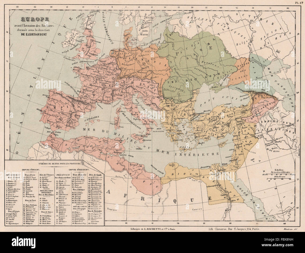 Europe Before The Barbarian Invasion Eastern Western Roman Stock