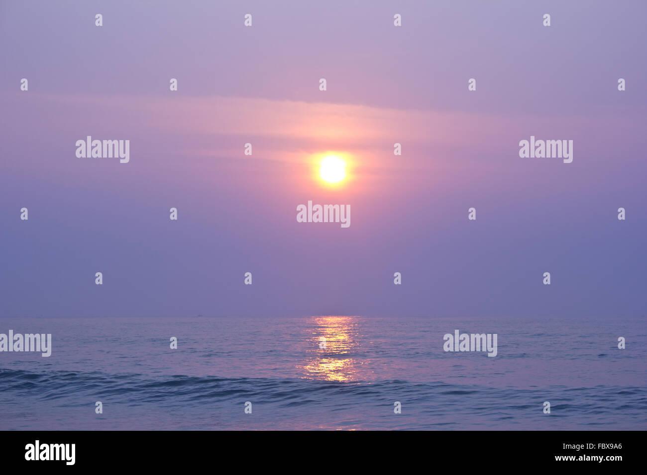 Sun rise on the Beach 22 - Stock Image