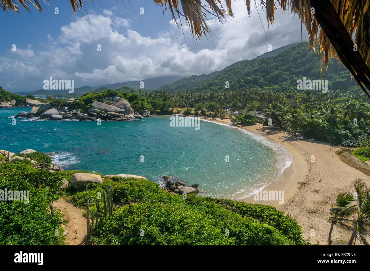 Cabo San Juan, Tayrona national park, Colombia - Stock Image