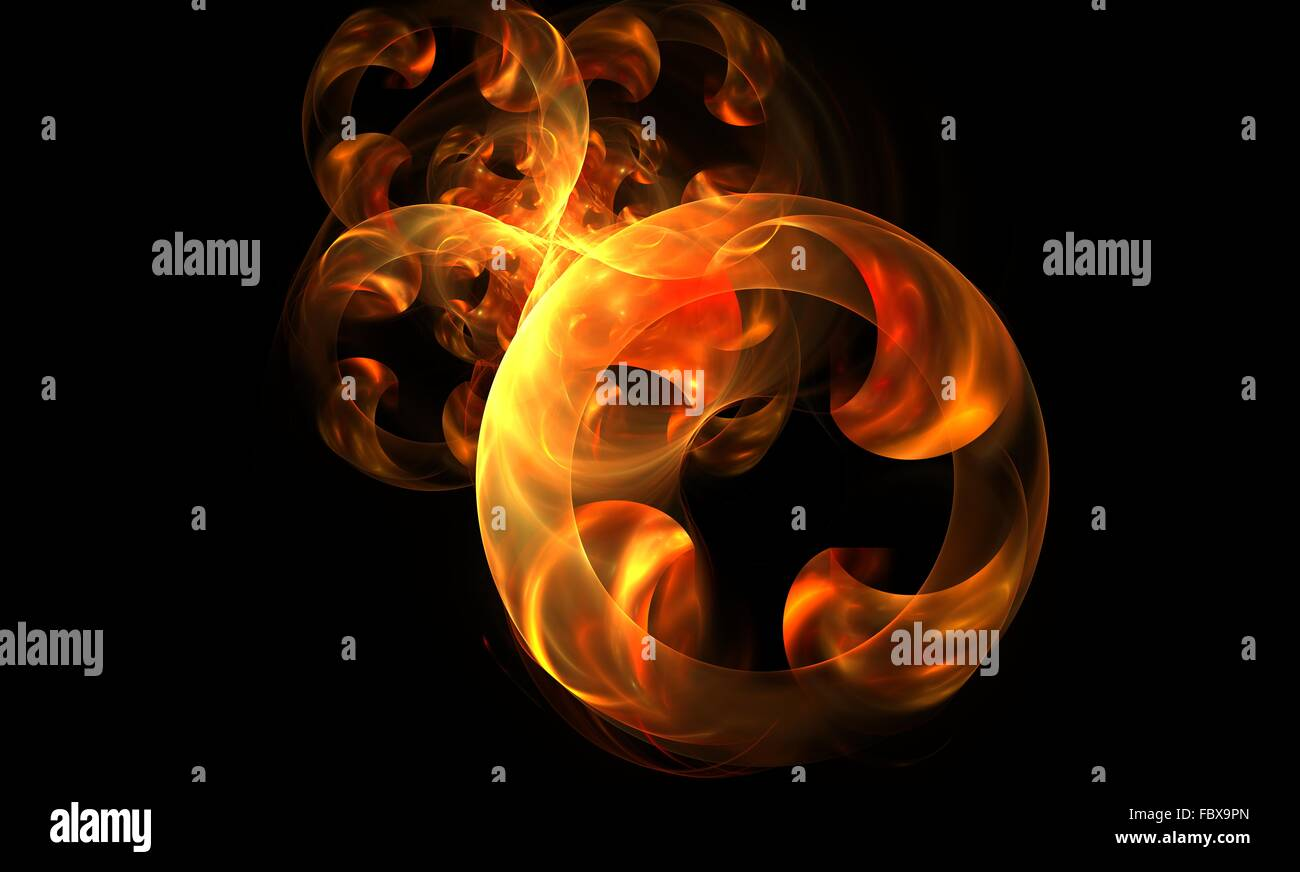 rings of fire - Stock Image