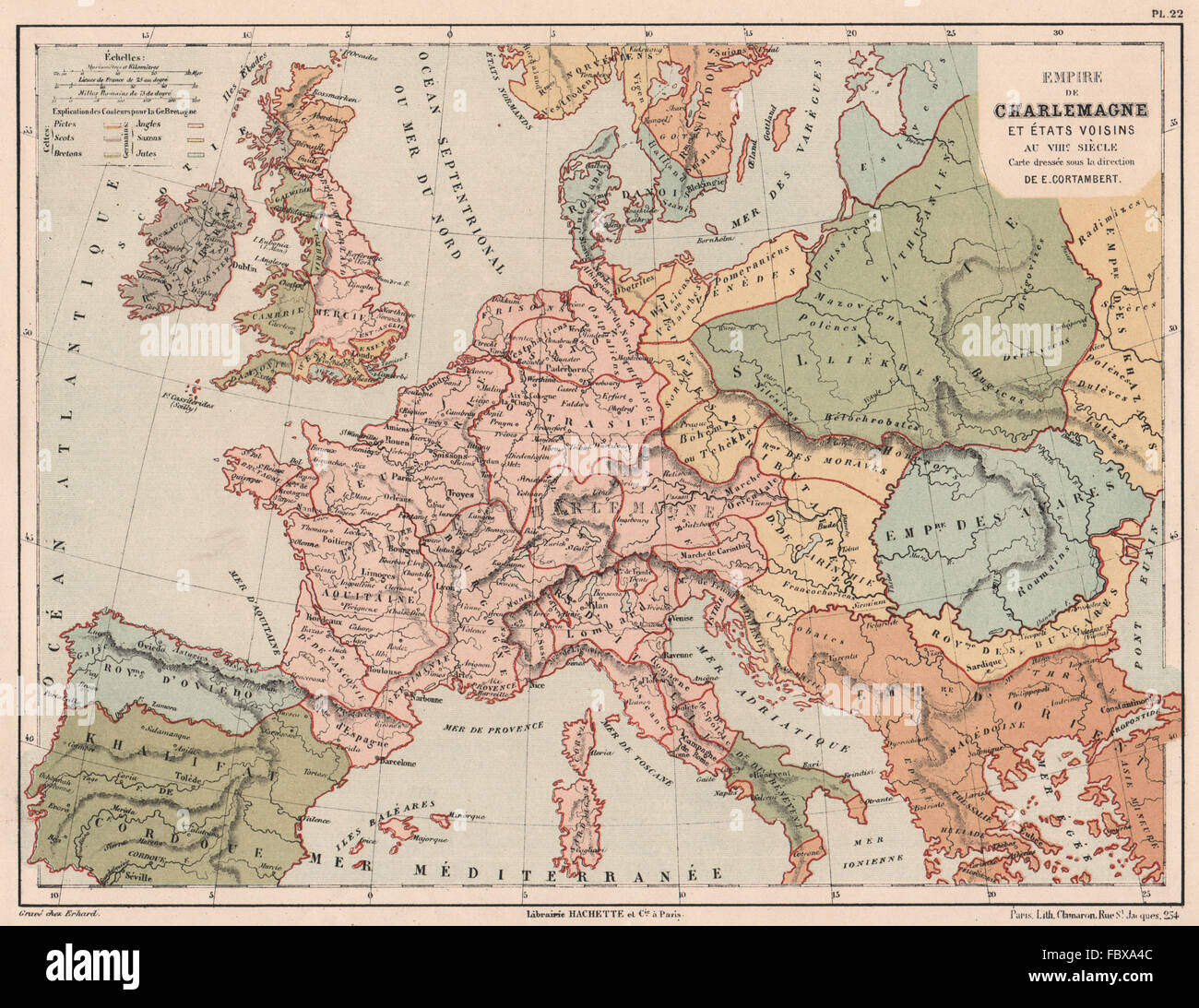 8th Century Europe Carolingian Empire Empire Of Charlemagne 1880