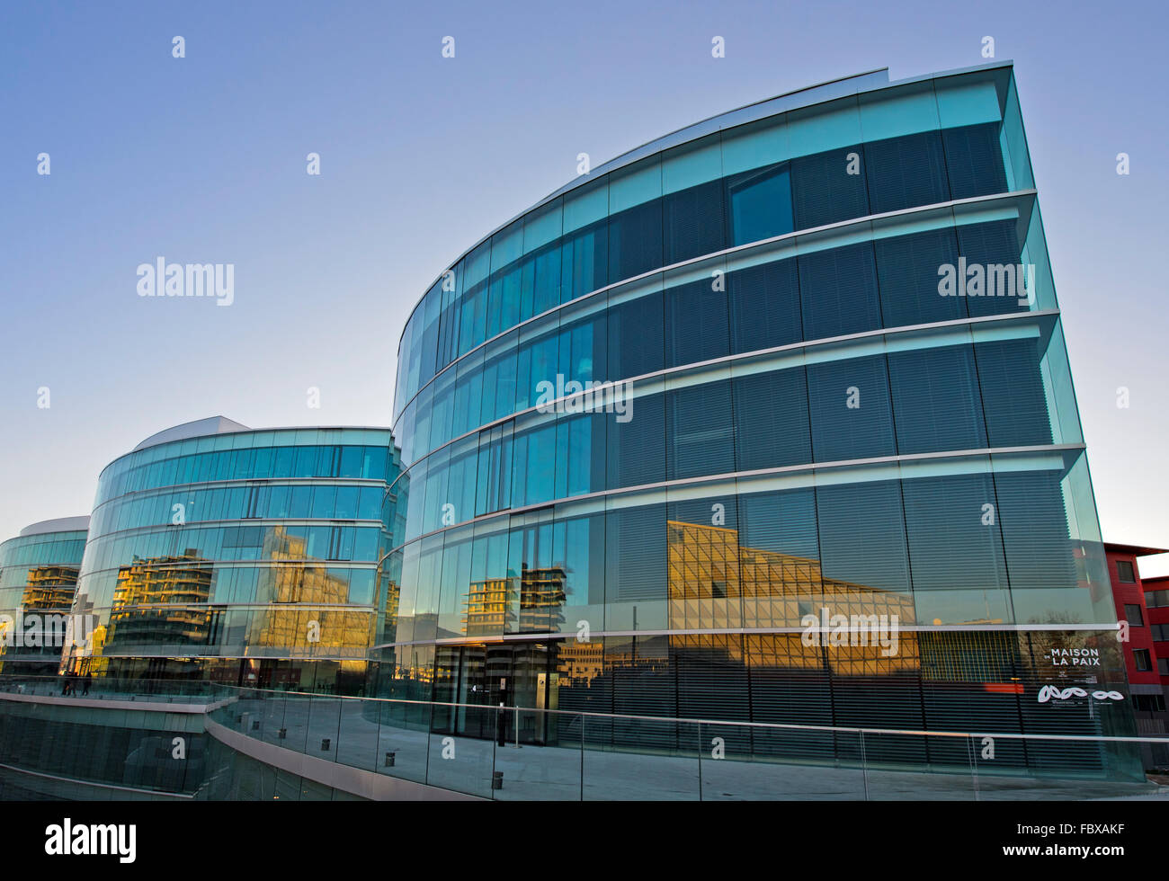 Maison de la paix, Geneva Graduate Institute of International and Development Studies, Geneva, Switzerland - Stock Image