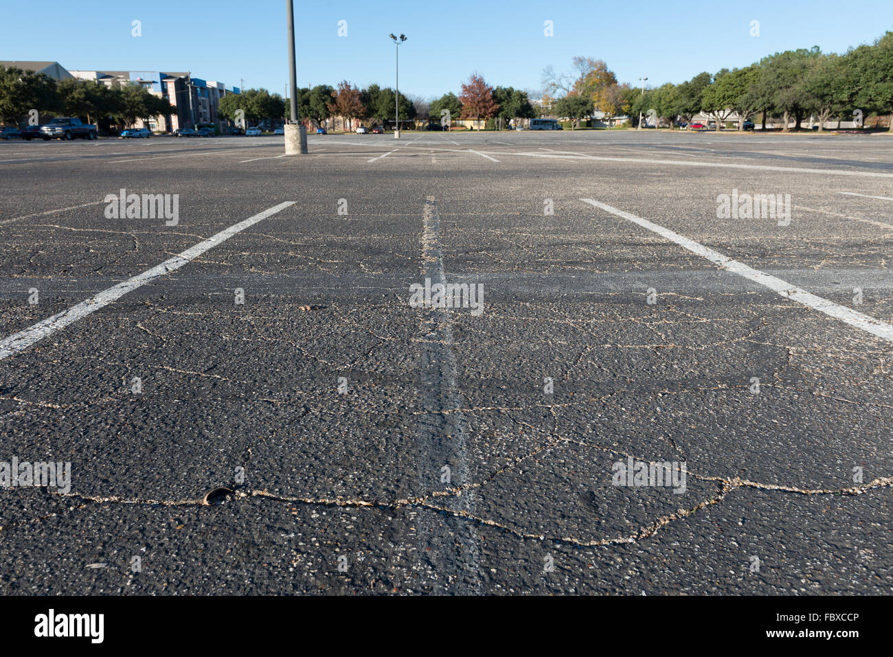 car parking lot, empty available space - Stock Image