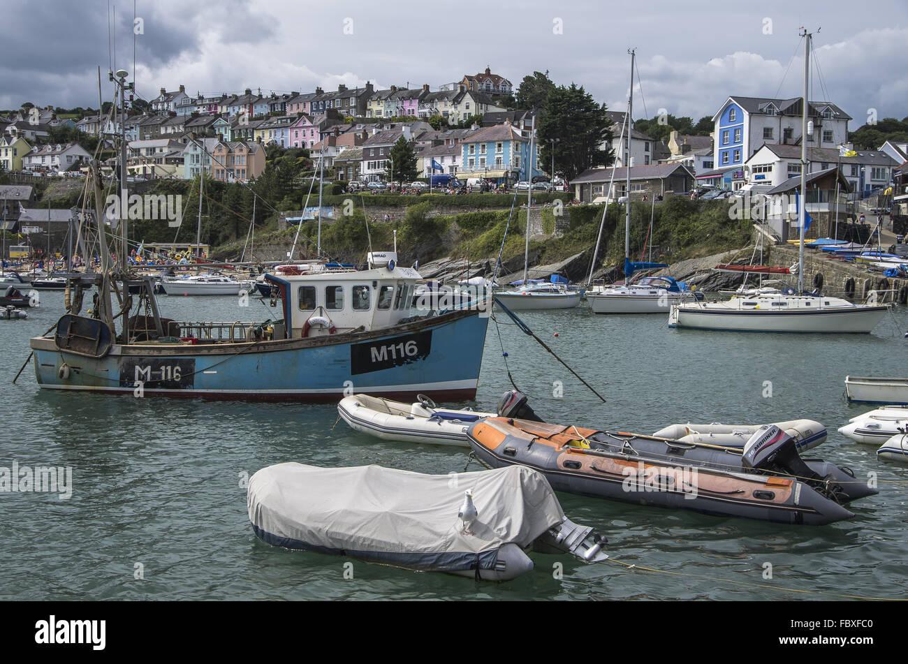 New Quay Harbour - Stock Image